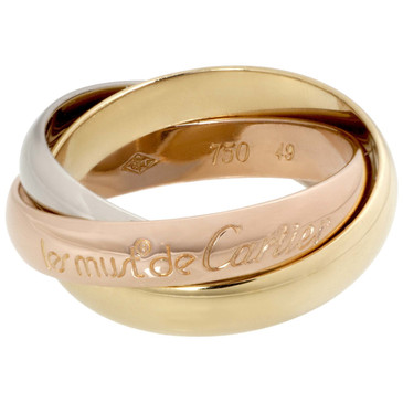 Cartier 18K Les Must De Cartier Classic Trinity Ring