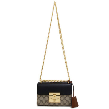 Gucci GG Supreme Monogram Small Padlock Shoulder Bag