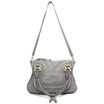 Chloe Cashmere Grey Calfskin Medium Marcie Satchel