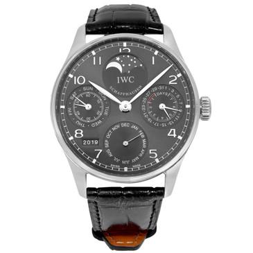 IWC 18K White Gold Portuguese Perpetual Calendar IW5022-18