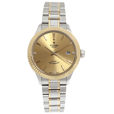 Tudor Stainless Steel & 18K Yellow Gold Style 38mm Watch M12513-0007
