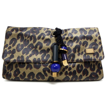 Louis Vuitton Leopard Nocturne African Queen Clutch