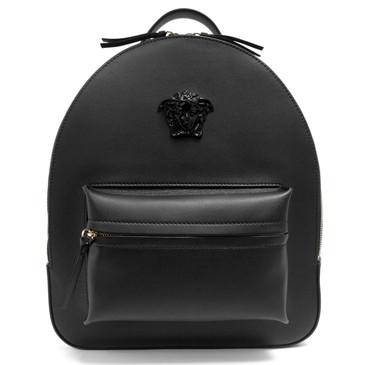 Versace Black Calfskin Palazzo Medusa Backpack