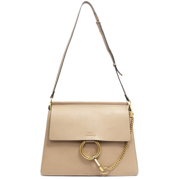 Chloe Biscotti Beige Goatskin Medium Faye Shoulder Bag