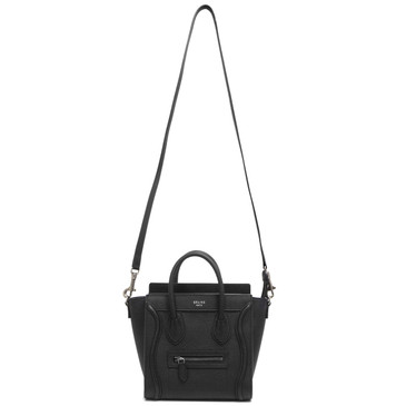 Celine Black Calfskin Nano Luggage Tote