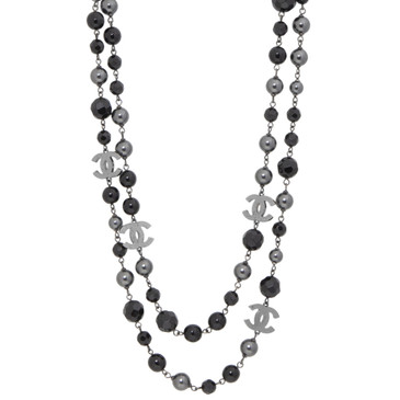 Chanel Pearl Beaded 'CC' Necklace