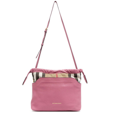 535ac1007647 Burberry Pink Leather House Check Little Crush Crossbody