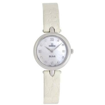 Omega De Ville Prestige Mother of Pearl Diamond Dial Ladies Watch 424.13.27.60.55.001
