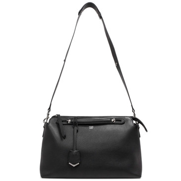 Fendi Black Calfskin Medium By The Way  Bag