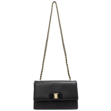 Salvatore Ferragamo Black Ginny Shoulder Bag
