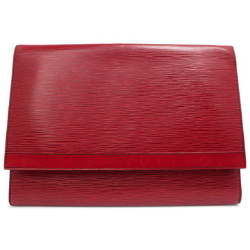 Louis Vuitton Vintage Red Epi Documents Holder