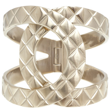 Chanel Quilted Metal CC Cuff