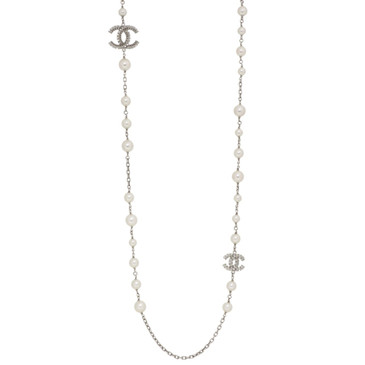 Chanel Pearl & Crystal CC  Necklace