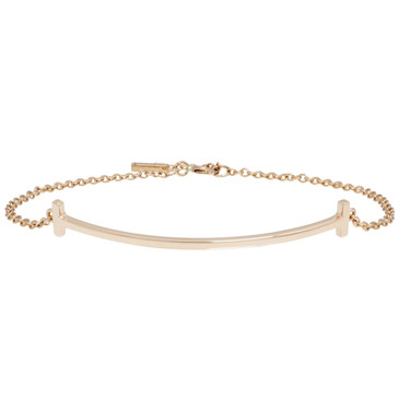 Tiffany 18K Rose Gold T Smile Bracelet