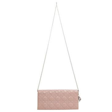 Dior Pink Patent Convertible Clutch