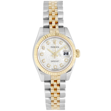Rolex 18K & Stainless Steel Diamond Ladies Datejust 179173