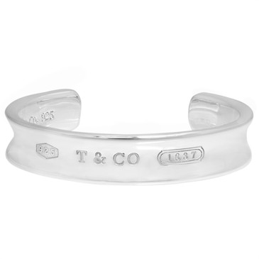 Tiffany & Co. Sterling Silver 1837 Wide Cuff