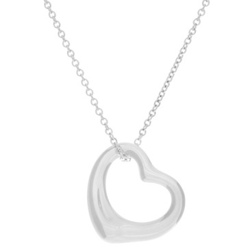 Tiffany & Co. Sterling Silver  Open  Heart Pendant