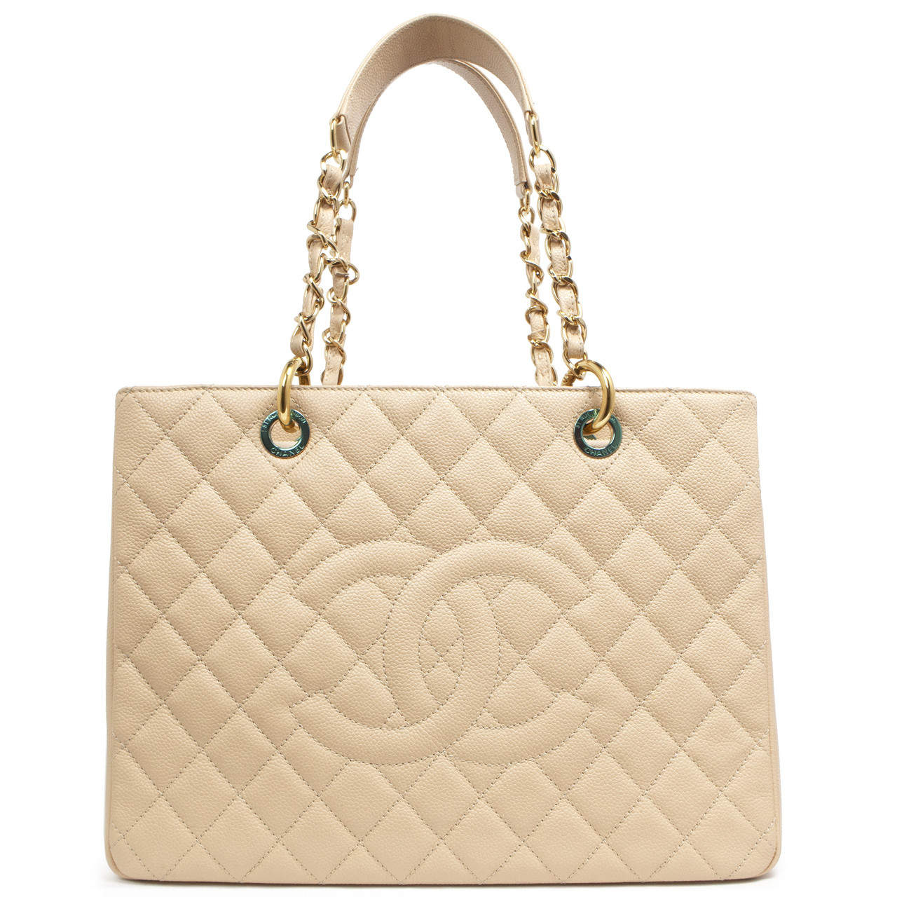 2e81f18f78af Chanel Beige Caviar Grand Shopping Tote GST - modaselle