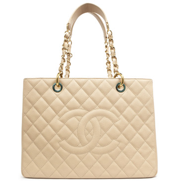 3613f6cff20b Chanel Beige Caviar Grand Shopping Tote GST
