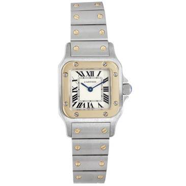 Cartier Stainless Steel & 18K Yellow Gold Santos Galbee Watch