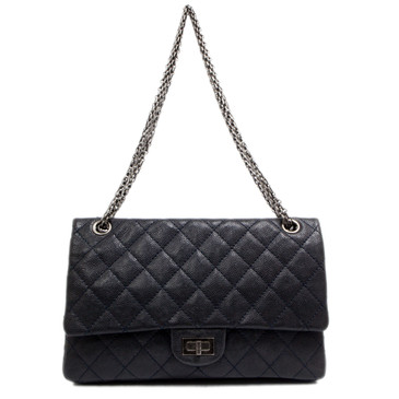 Chanel Navy Caviar 2.55 Reissue Double Flap 226