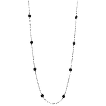 Tacori Sterling Silver Black Lightning Medley Necklace
