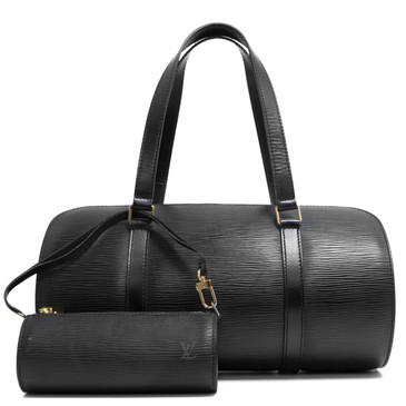 Louis Vuitton Black Epi Soufflot