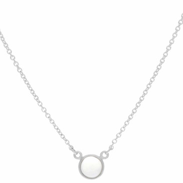 Tiffany & Co. Sterling Silver & Moonstone Color by the Yard Necklace