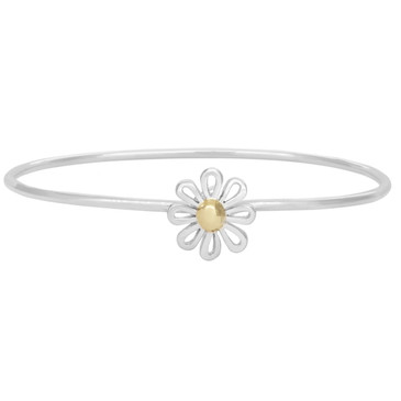 Tiffany & Co. Sterling Silver & 18K Daisy Bracelet
