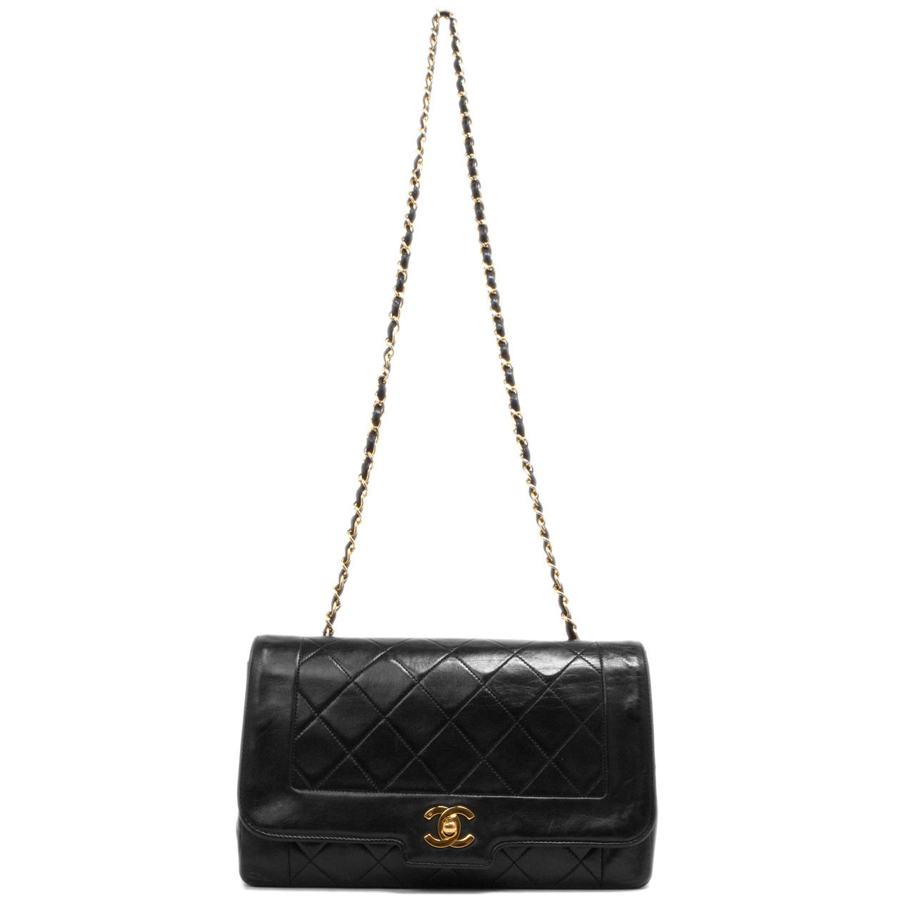 e2793635a3fd Chanel Black Quilted Lambskin Vintage Flap Bag - modaselle