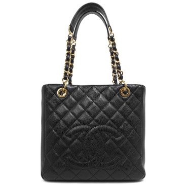 Chanel Black Caviar Petite Shopping  Tote PST