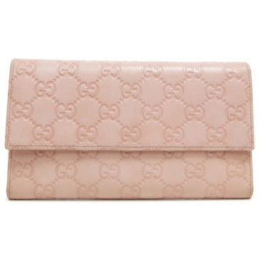 Gucci Pink Guccissima Continental Wallet