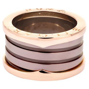 Bvlgari 18K Rose Gold B.Zero1 Roma Four-Band Ring
