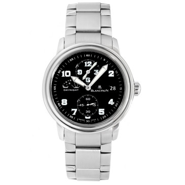 Blancpain Stainless Steel Leman Double Time Zone Automatic Watch 2160-1130M-71