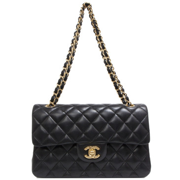 Chanel Black Quilted Lambskin Small Classic Double Flap