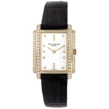 Patek Philippe 18K Yellow Gold & Diamond Gondolo Quartz Watch 4825J