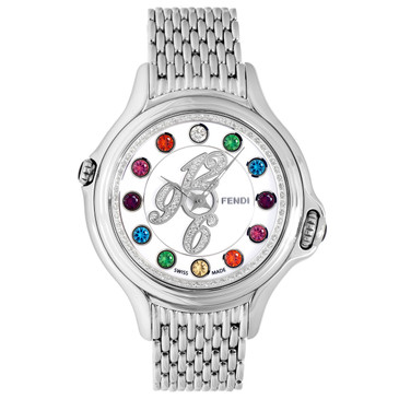 Fendi Stainless Steel, Diamond & Topaz Crazy Carats Watch