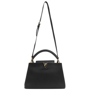 Louis Vuitton Noir Taurillon Leather Capucines PM