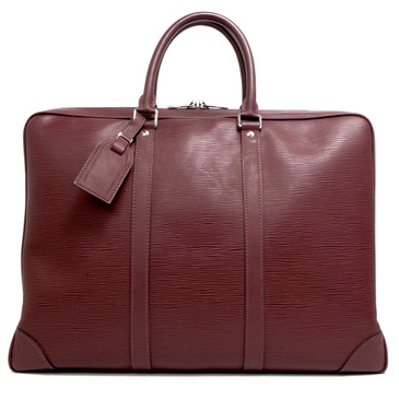 Louis Vuitton Bordeaux Epi Porte Documents Voyage  Briefcase