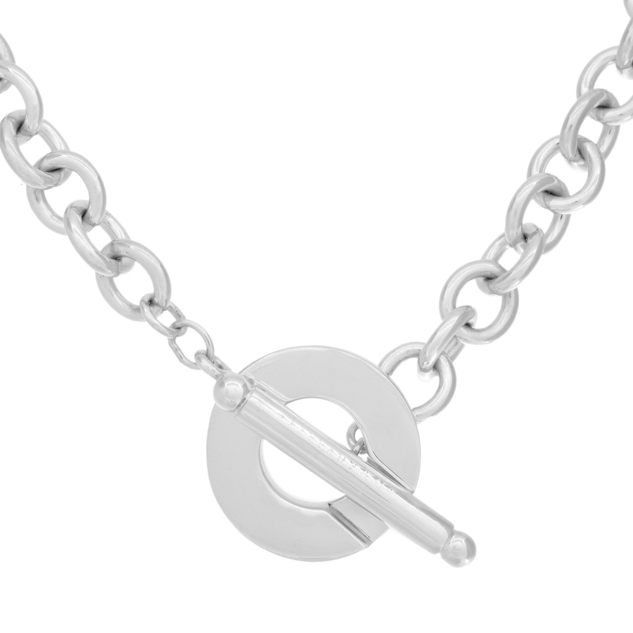 df7a881cbd5f3b Tiffany & Co. Sterling Silver Toggle Necklace - modaselle