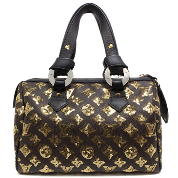 Louis Vuitton Gold Monogram Eclipse Speedy 28