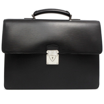 Louis Vuitton Black Epi Robusto 2 Compartment Briefcase