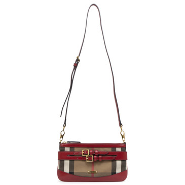 Burberry Red House Check Bridle Peyton Crossbody
