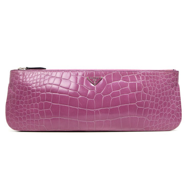 Prada Tamaris Crocodile Clutch