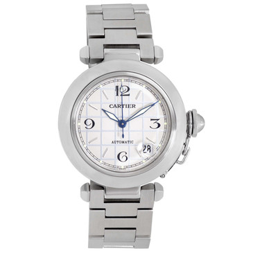 Cartier Stainless Steel Pasha C 35mm Automatic Watch W31023M7