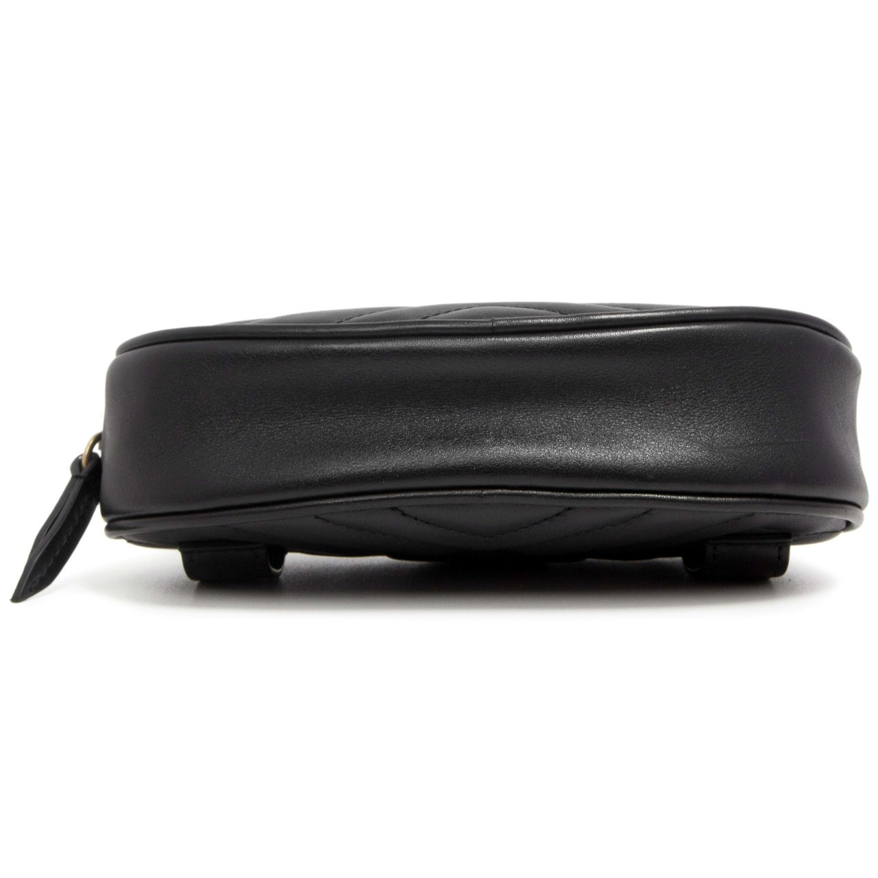 8cc554f80fec Gucci Black GG Marmont Matelasse Leather Belt Bag - modaselle