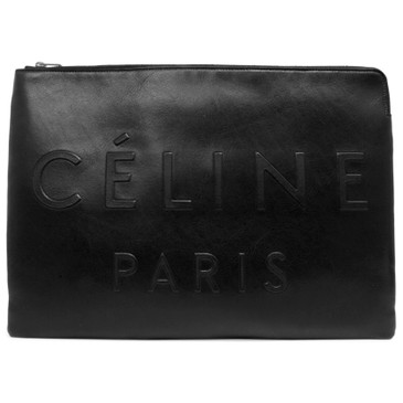 Celine Black Calfskin Made In Large Clutch Pouch