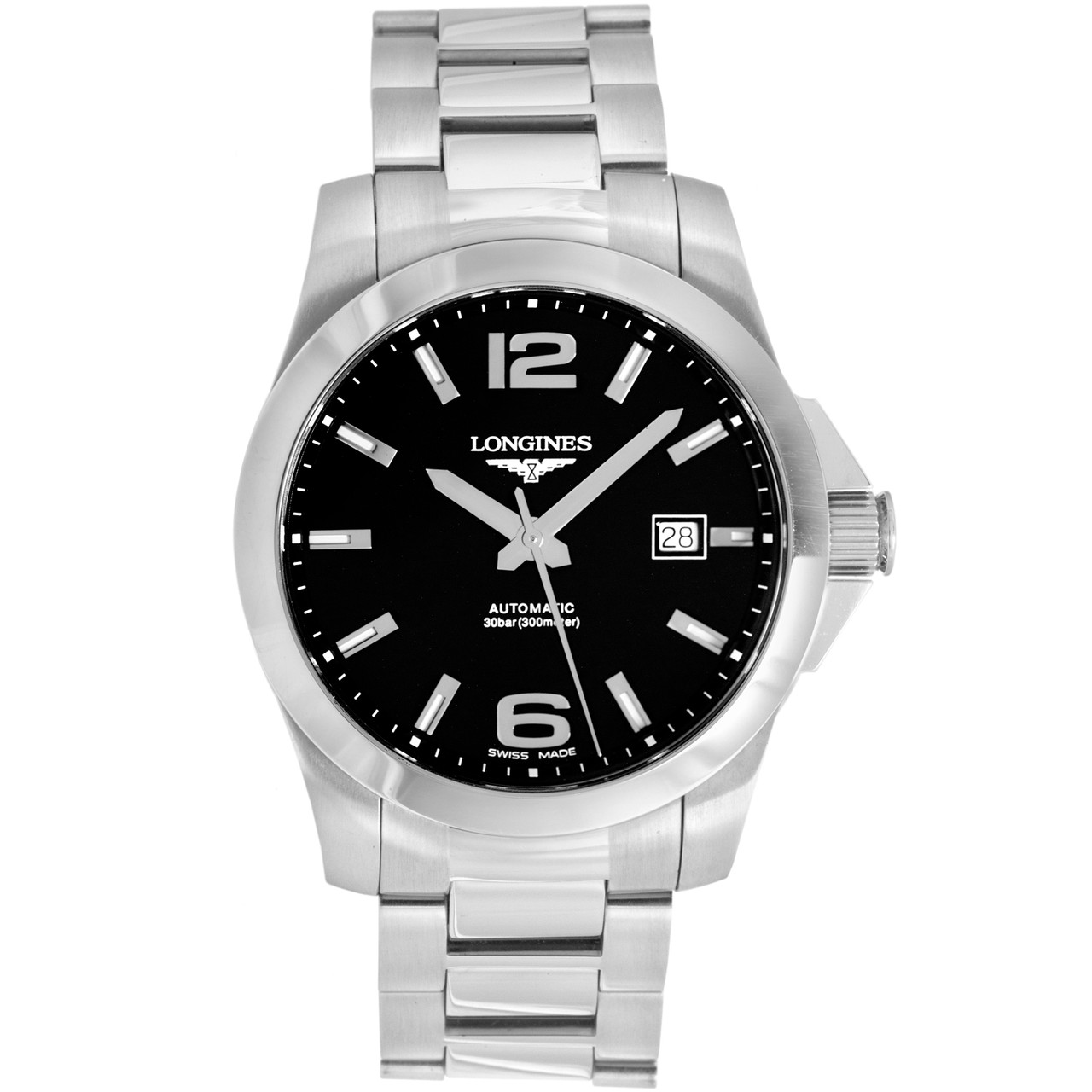 bb155bf48987 Longines Stainless Steel Conquest Automatic 41mm Watch L36774566 ...