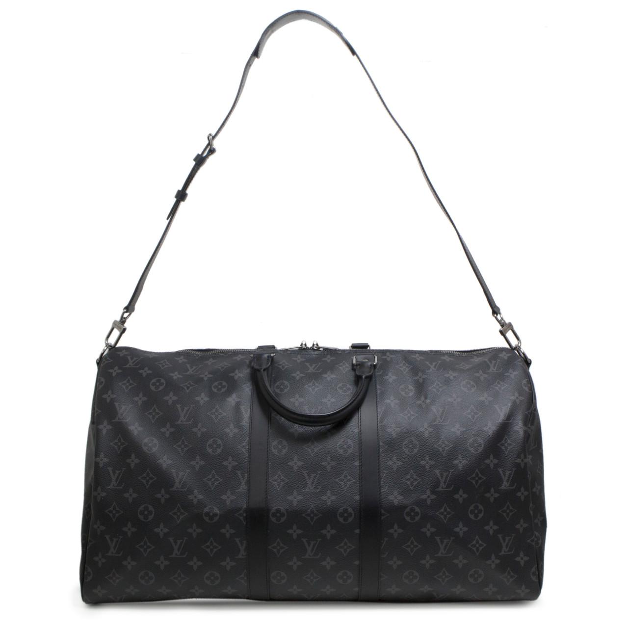 2298455959f8 Louis Vuitton Monogram Eclipse Keepall Bandouliere 55 - modaselle